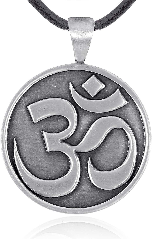 Namaste Jewelers Aum Om Mantra Hindu Symbol Pendant Necklace Pewter Jewelry