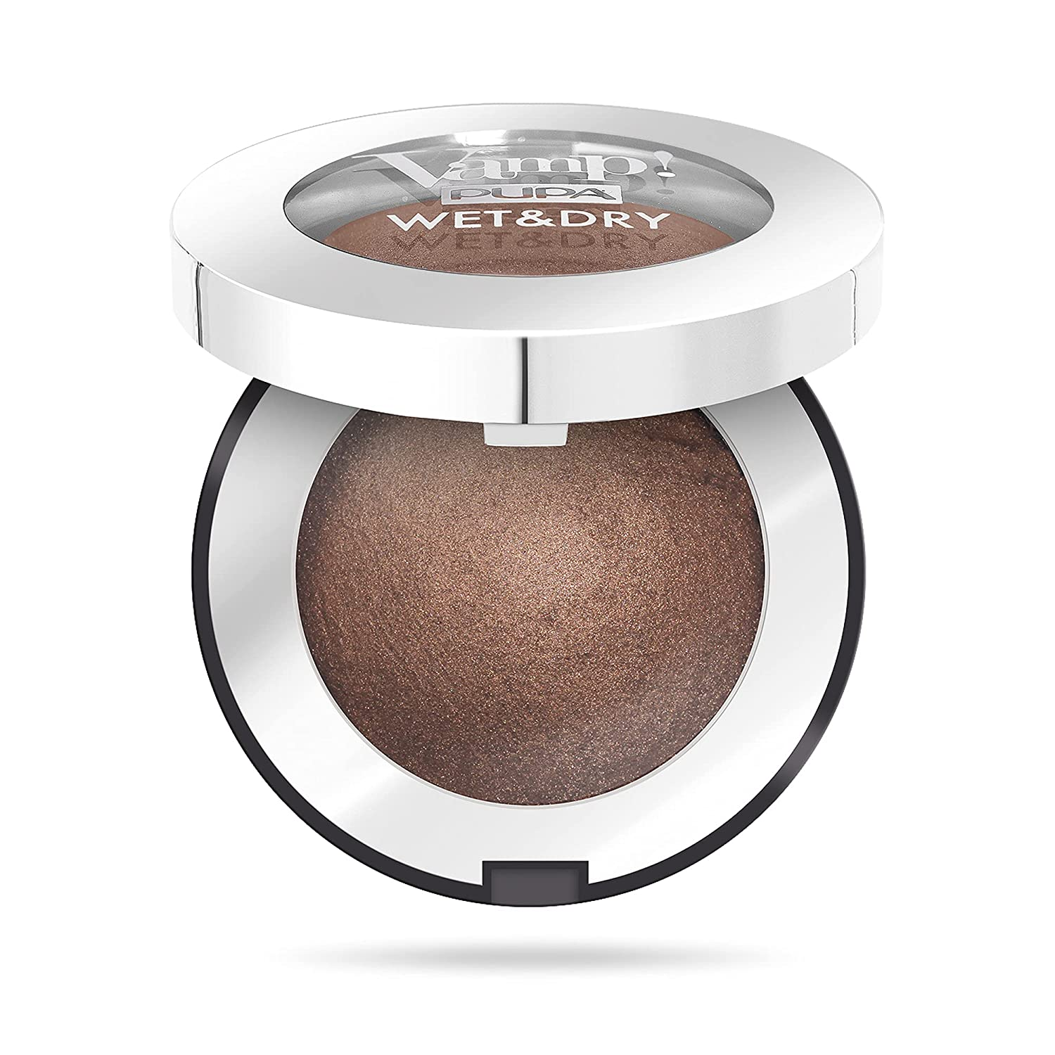 Vamp! Wet and Dry Baked Eyeshadow – 105 Warm Brown by Pupa Milano for Women – 0.035 oz Eye Shadow