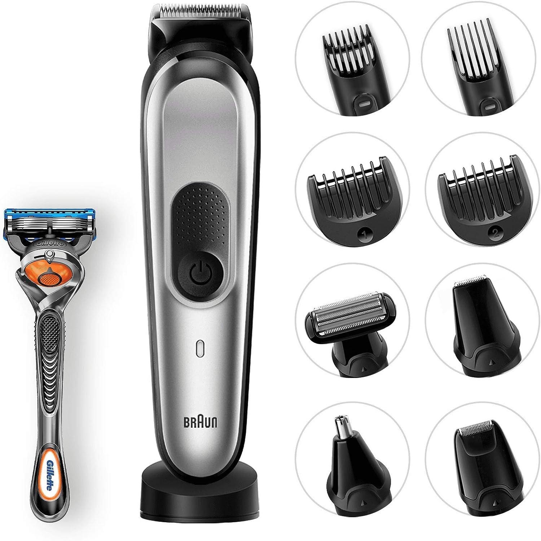 Braun Todo En Uno 10 En 1 MGK7021 - Recortadora Barba Y Cortapelos, Negro y Gris: Amazon.es: Salud y cuidado personal