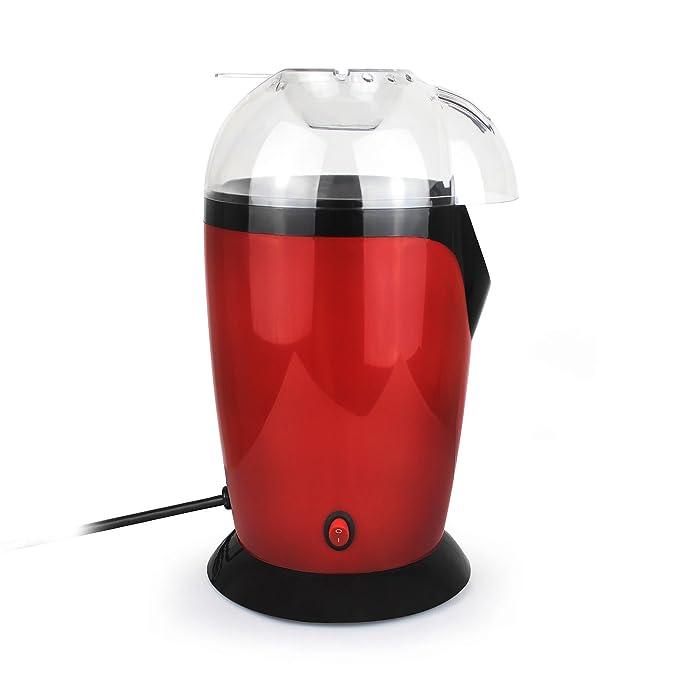 Leogreen - Maquina para Hacer Palomitas de Maíz Eléctrica, Maquina de Palomitas con Aire Caliente, Rojo, Tamaño: 30,5 x 17 x 16,3 cm, Capacidad del ...