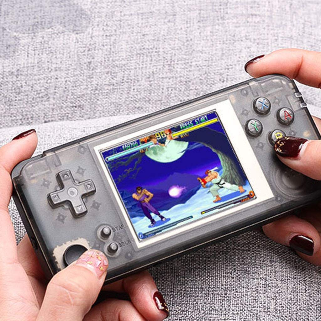 vmree Retro Game Console Portable Handheld Game Player Built-in 3000 Game Joystick (Black)