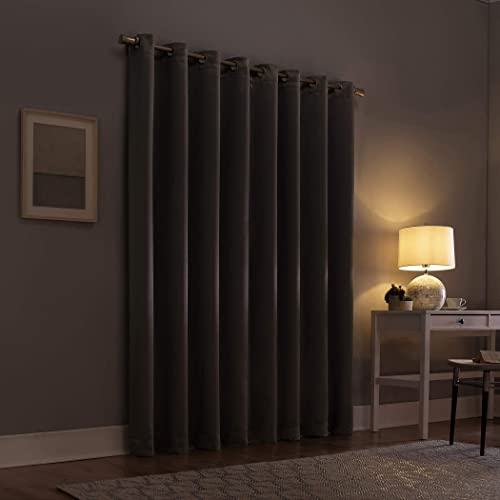 Sun Zero Glacia Blackout Grommet Curtain Panel, 52 x 95 , Grey