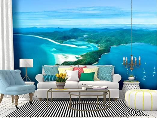 Amazon Com Wall Mural Hill Inlet Whitsunday Islnd1 Australia Landscape Of A Tropical Peel And Stick Wallpaper Self Adhesive Wallpaper Large Wall Sticker Removable Vinyl Film Roll Shelf Paper Home Decor Home