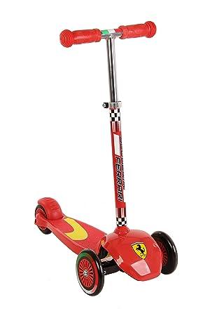 Ferrari - Patinete de 3 ruedas ligero y fácil de llevar para ...