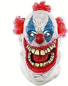 CMiracle Halloween Scary Cosplay Evil Circus Clown Horror Demon Joker Mask