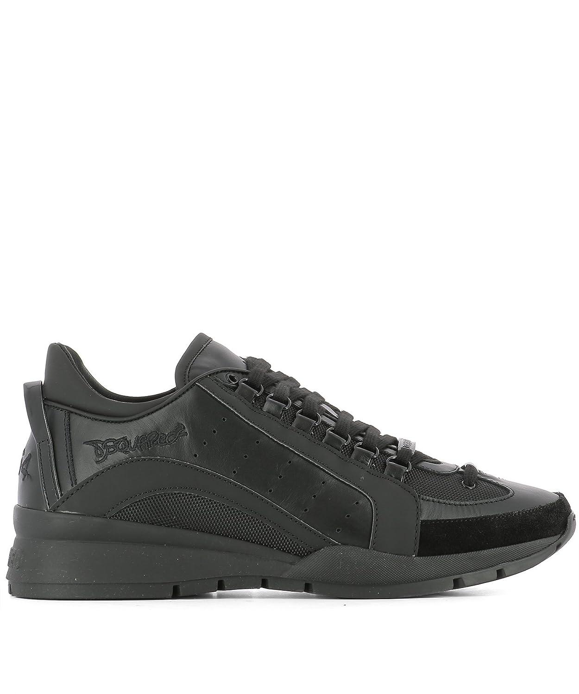 Dsquared2 メンズ W17SN4041306M084 ブラック 革 運動靴 B07DXM47K6