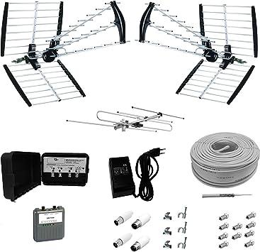 Kit LTE instalación Digital Terrestre DVBT Triple antena UHF ...