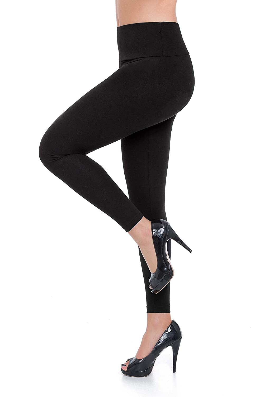 4124622e00c6a FUTURO FASHION Womens High Waisted Leggings Classic and Winter Cotton Plus  Size LWP: Amazon.co.uk: Clothing