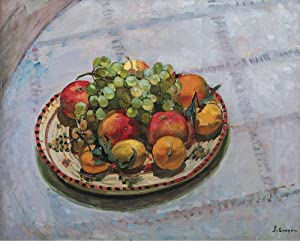 The Museum Outlet - The Plate with Apples and Grapes, 1925 - Poster Print Online Buy (30 X 40 Inch)