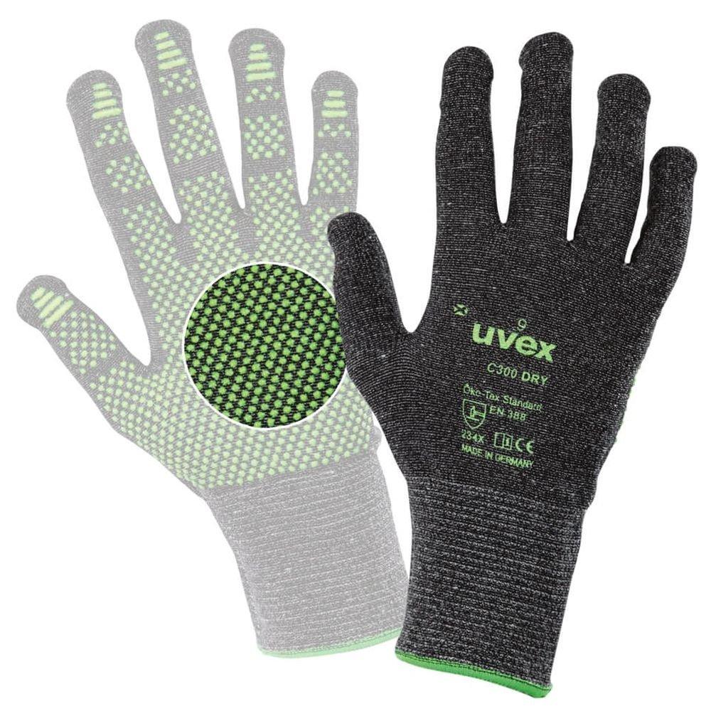 8 C300 dry Schnittschutzhandschuh aus Mischgewebe UVEX C300 DRY Gr Glasfaser 60549 1 Paar Kunststoff