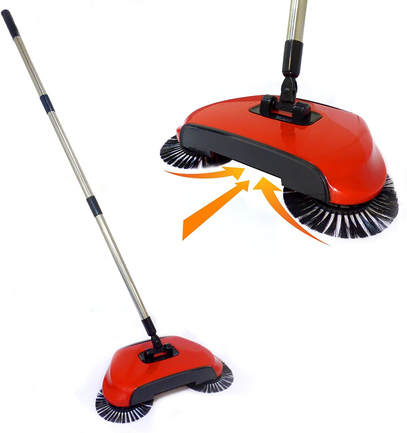 Automatic Spin Sweeper 3 in 1 Floor Sweeping Brush Broom, Duster & Dustpan Pukkr