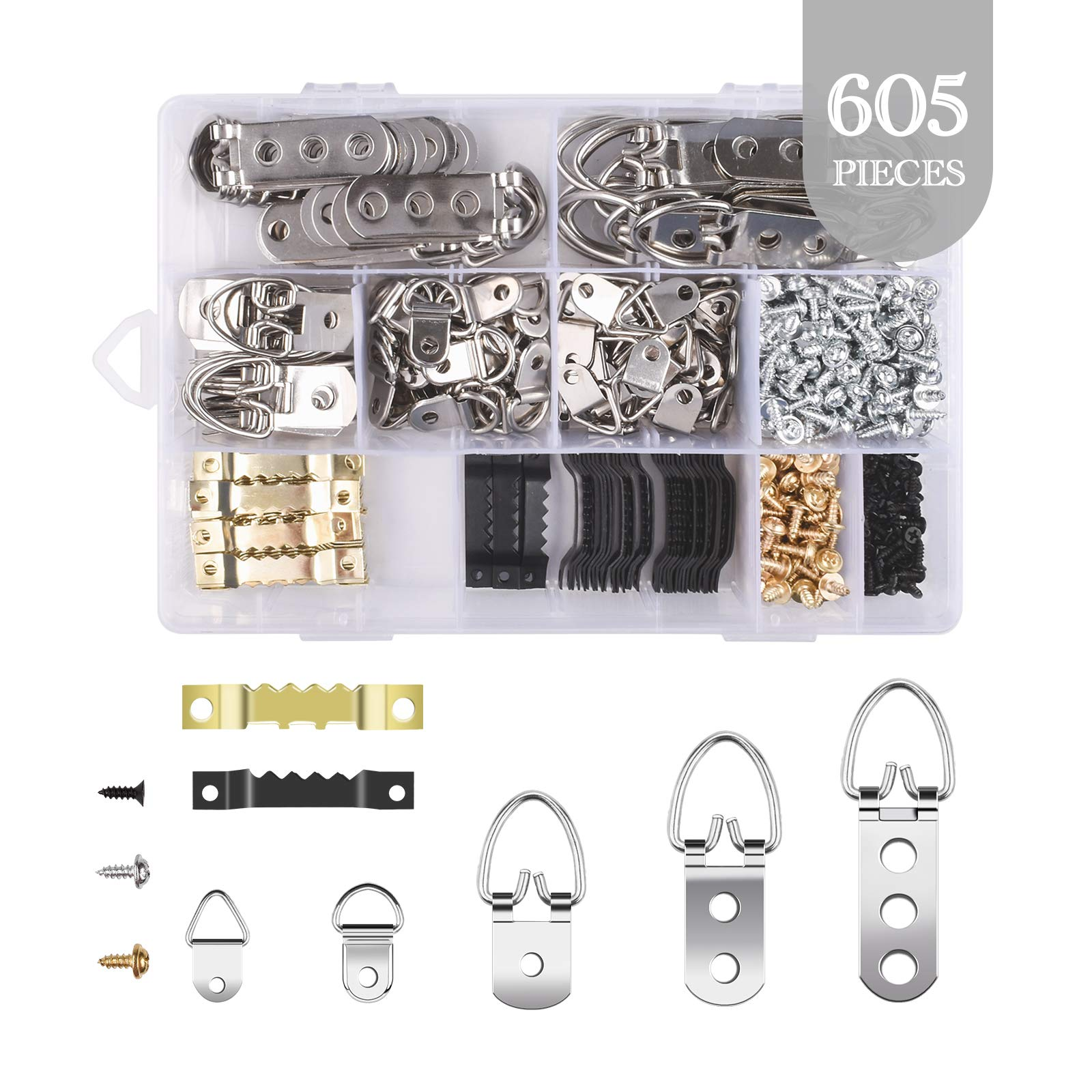 Great assortment of hangers and screws!