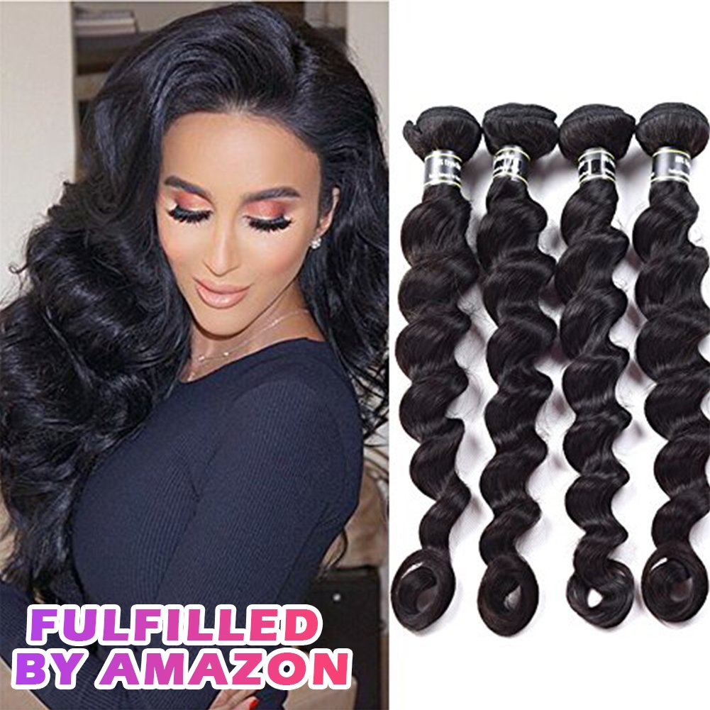 Amazon Star Show Hair Loose Wave Hair Bundles Malaysian Virgin