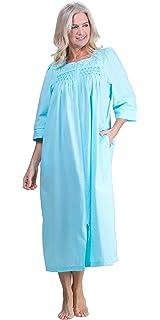 0ae5f13bd9 Miss Elaine Women s Size Plus-Seersucker Long Zip Robe at Amazon ...