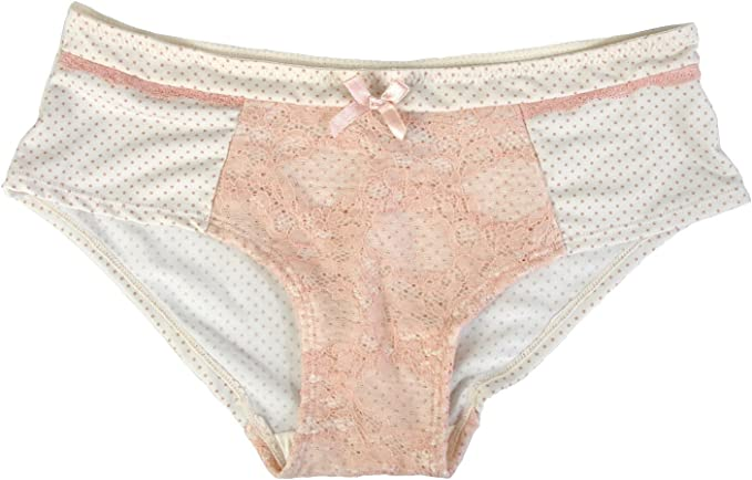Size 6 M Rene Rofe Lace Trimmed Hipster Panty