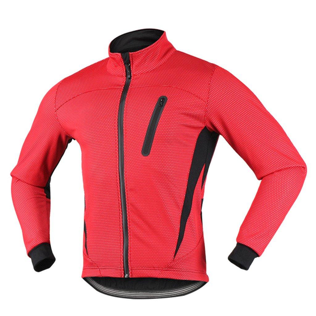 MTB mountain bike reflective jacket waterproof air jacket warm mens jacket for autumn iCreat men/'s jacket visible fleece windproof black