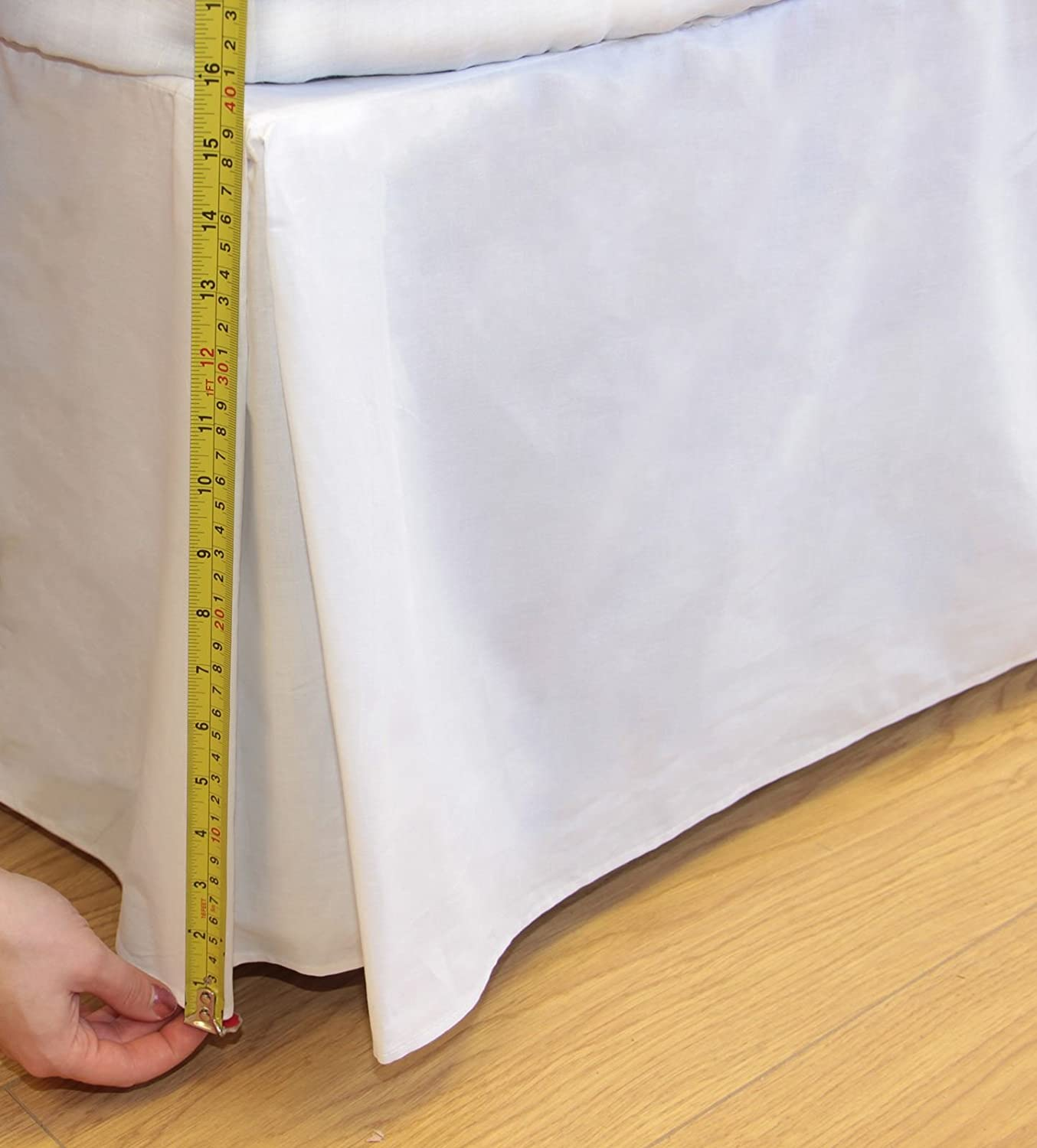 Ideal Textiles, Percale 180 Thread Count, Base Valance Sheet, Platform Valance, White, Double Bed Size