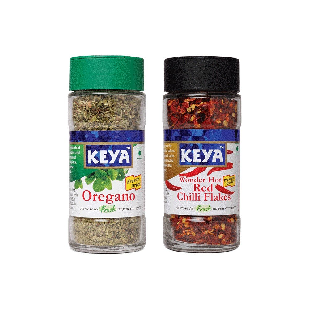 Keya Oregano Chilli Flakes Combo 49g