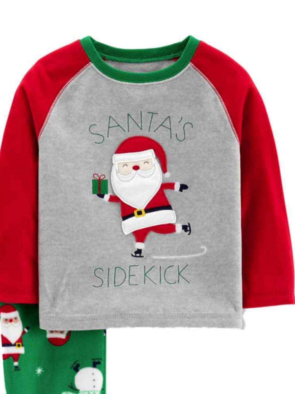 Just One You Baby Boys Santas Sidekick 2pc Pajama Set Made by Carters