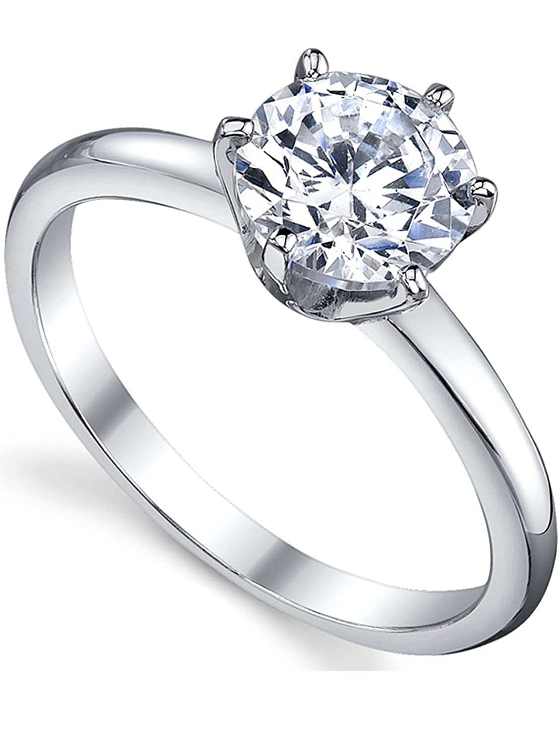 Travel Ring Promise Ring 1.25 Ct Round Brilliant Cut Fine Quality Cubic Zirconia Engagement Ring In Sterling Silver Proposal Ring