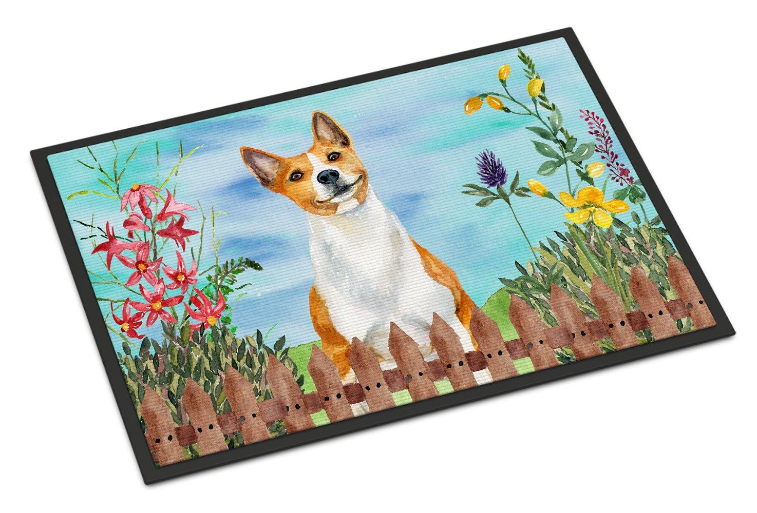 Carolines Treasures Irish Wolfhound Spring Doormat 18 x 27 Multicolor