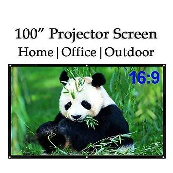 100 pulgadas 16:9 portátil interior al aire libre cine ...