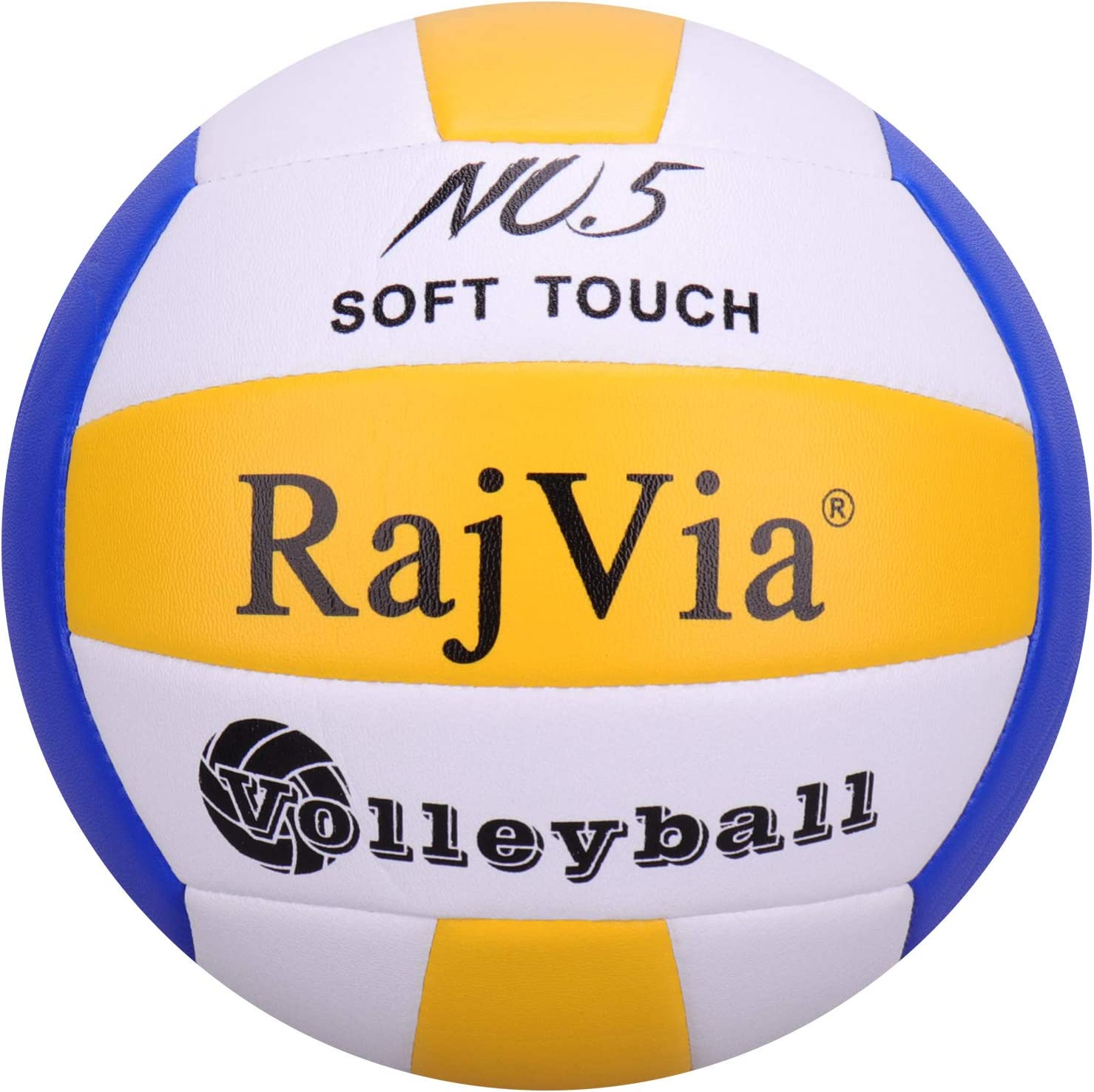 Rajvia Soft Touch Volleyball Official Size 5 Indoor Outdoor Beach Gym Game ball Synthetic Leather