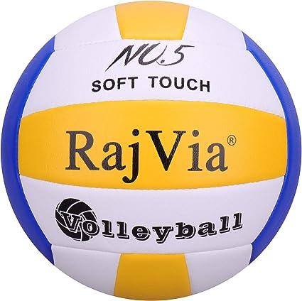 Rajvia Soft Touch Voleibol Tamaño Oficial 5 Interior al Aire Libre ...