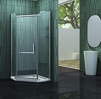 Pentágono-ducha FIVE 100 x 195 cm sin de ducha: Amazon.es ...