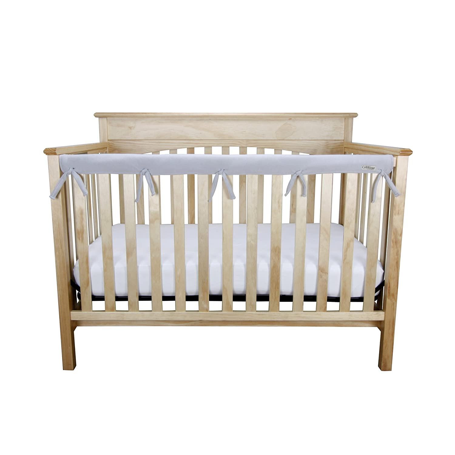 Trend Lab Waterproof CribWrap Rail Cover - For Narrow Long Crib Rails Made to Fit Rails up to 8 Around 109095