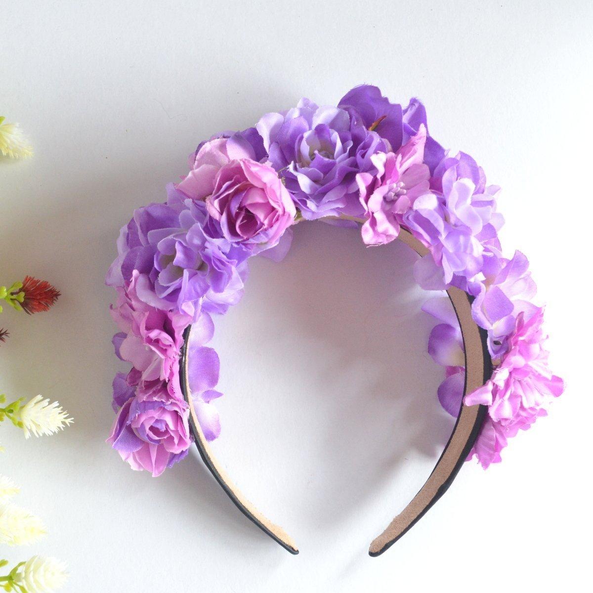 Amazon purple violet flower crown headband handmade izmirmasajfo