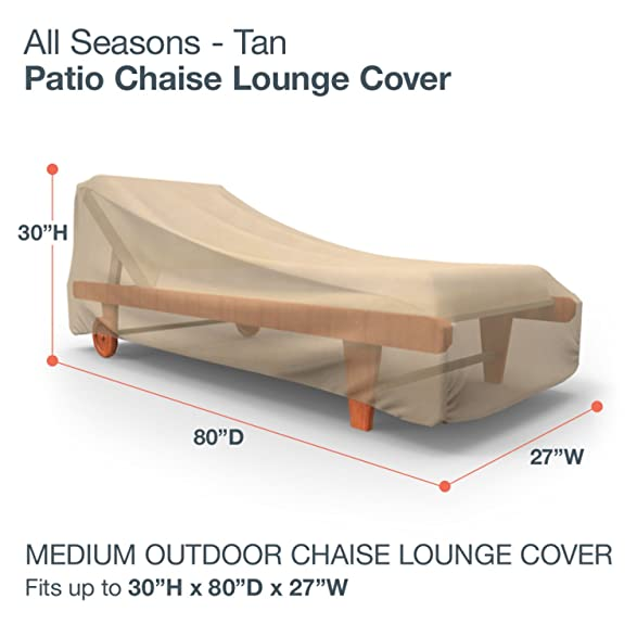 Amazon.com  Budge All-Seasons Patio Chaise Lounge Cover Medium (Tan)  Patio Chaise Lounge Covers  Garden u0026 Outdoor  sc 1 st  Amazon.com : patio chaise lounge covers - Sectionals, Sofas & Couches