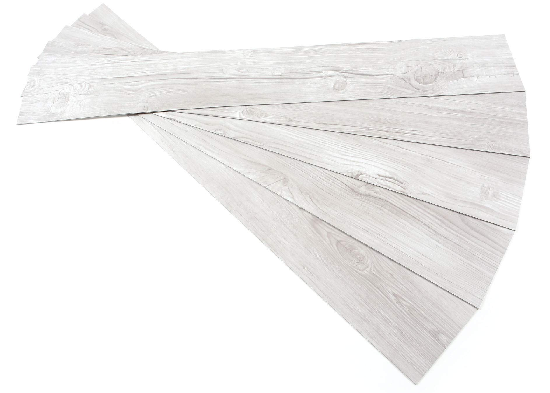 ROSEROSA Peel and Stick Antique Pine Wood Pattern Decoration Tile Vinyl Floor Planks : 39.37 inch X 5.90 inch, Thickness 2.0mm : 5 Planks (ECK-909)