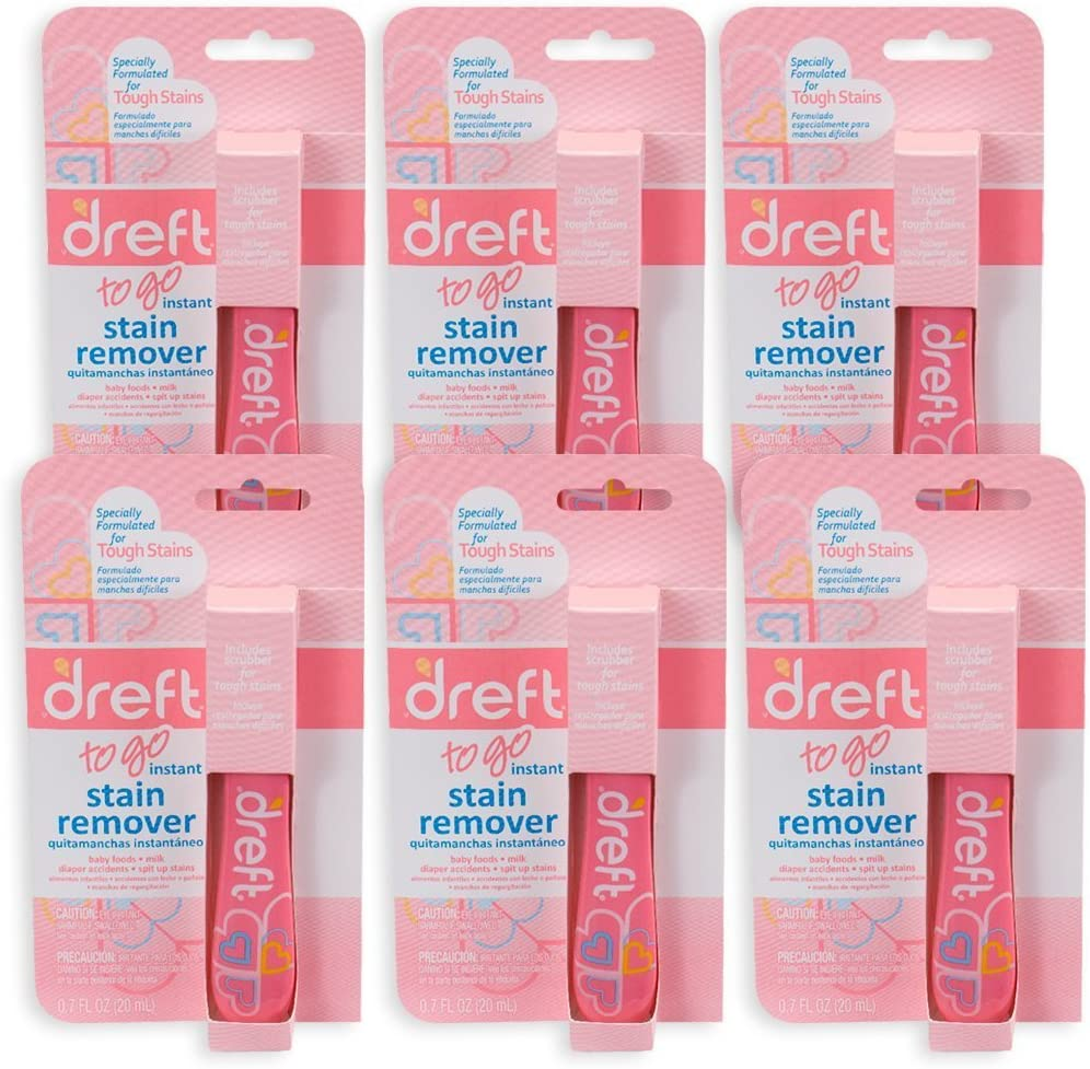 Downy Dreft Pretreater Portable Stain Pen .7 oz, 6 Pack, Removes Tough Stains