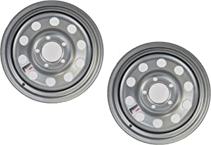 2-Pack Trailer Rim Wheel 15X5 J 5-4.5 Silver Modular 1870 Lb. 3.19 Center Bore