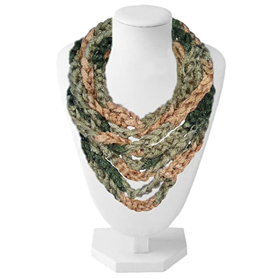 Premier Sashay Finger Braided Crochet Knit Lightweight Infinity