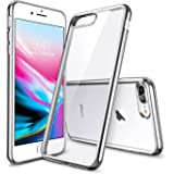 ESR Funda para iPhone 8 Plus/ 7 Plus, Transparente Suave TPU Gel [Ultra Fina] [Protección a Bordes y Cámara] [Compatible con Carga Inalámbrica] para Apple iPhone 7 Plus iPhone 8 Plus - Plata