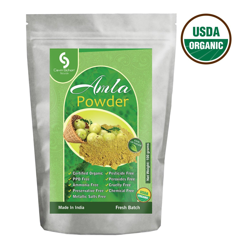 Cavin Schon USDA Certified Organic Amla Powder - 100% Natural & Chemical Free Hair conditioning