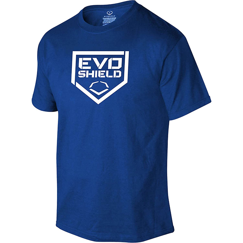 Evoshield野球ホームプレートメンズTシャツ B00IAFN1TYロイヤル Large