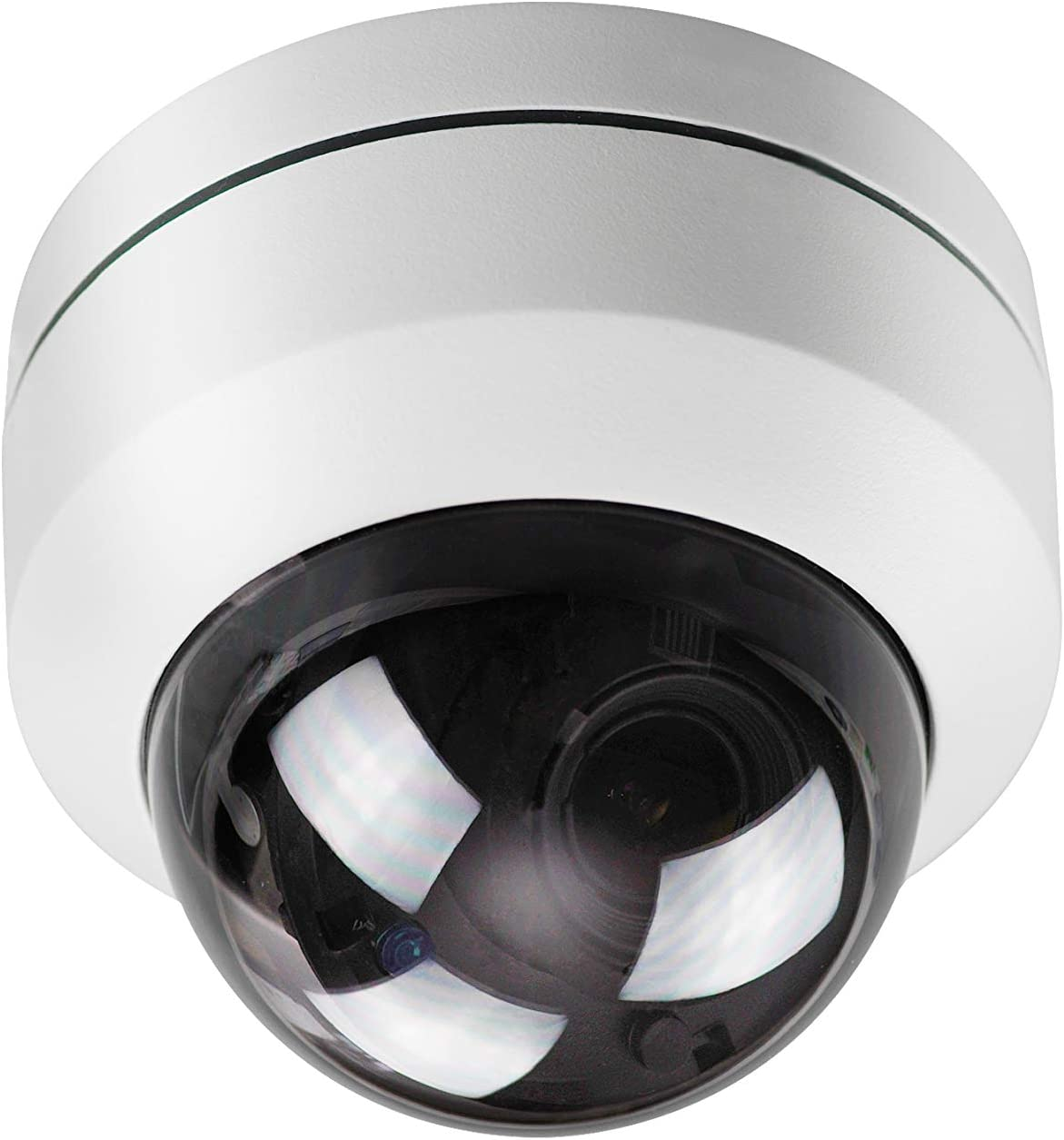 MorphXStar Security H.265 5MP HD (2592 x 1944) p IP High-Speed Onvif Network Dome PTZ Camera 5X Optical Zoom Waterproof Outdoor/Indoor - Justify5 5X PTZ White