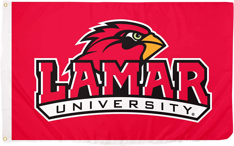 Desert Cactus Lamar University Cardinals NCAA 100/% Polyester Indoor Outdoor 3 feet x 5 feet Flag