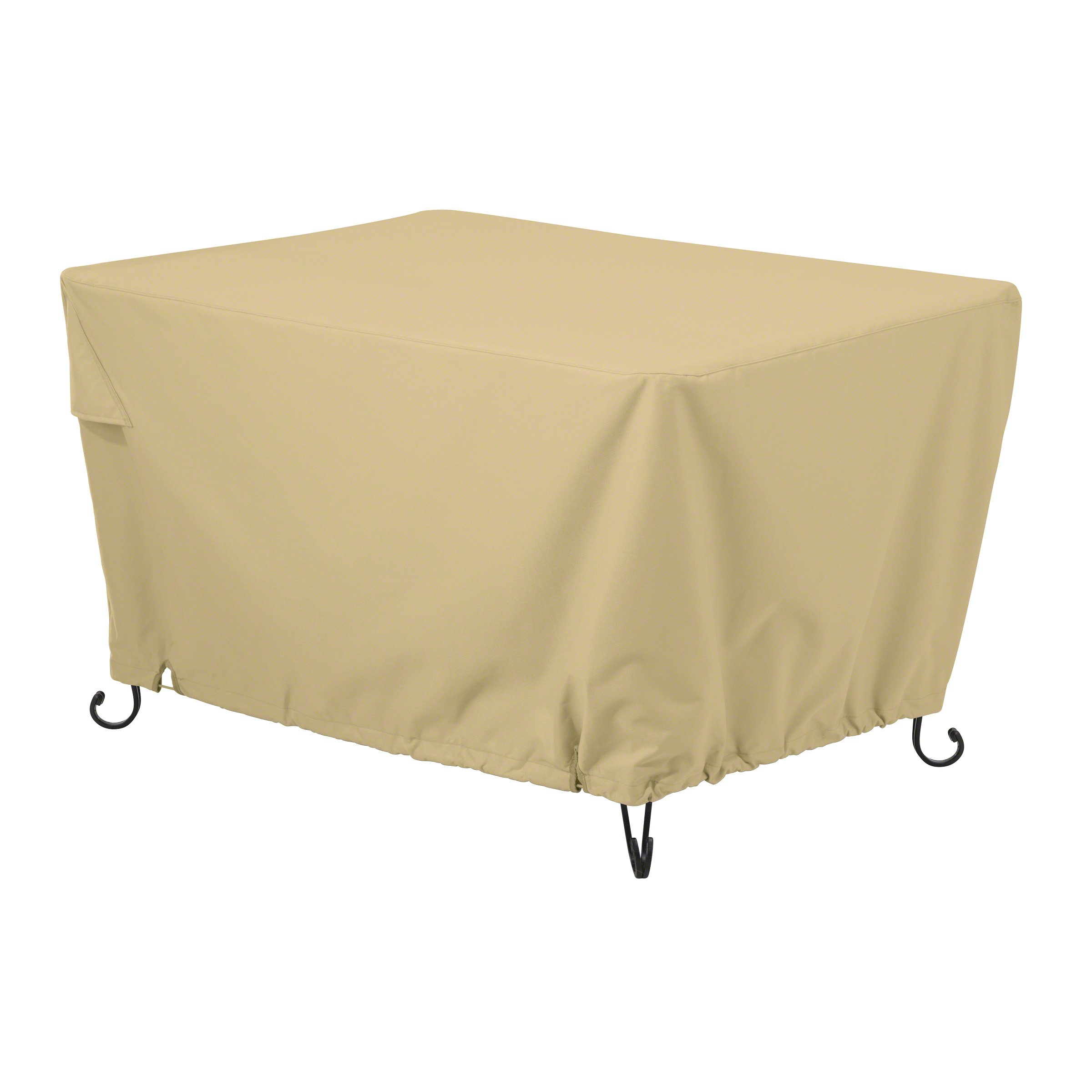 Classic Accessories Terrazzo Rectangular Outdoor Patio Fire Pit or Table Cover, 56 Inch