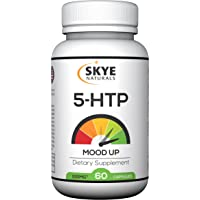 Skye Naturals 5HTP Mood Up 100mg Extra Strength, Feel Happy, Boost Serotonin Naturally for Better Sleep, Curbs Appetite for Healthy Weight Loss, Non-GMO