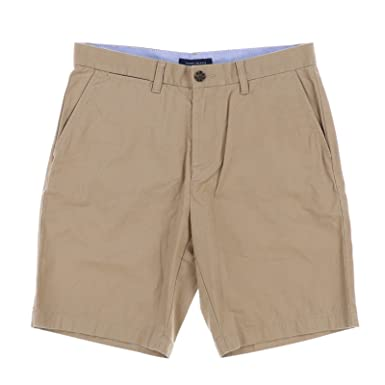 ad66ce5147 Tommy Hilfiger Mens Pleated Flat Front Khaki, Chino Shorts at Amazon ...