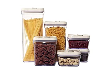 Food Storage Container Jar Organizer Storage   Various Sized Kitchen  Canisters   Set Of 6
