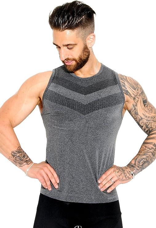 Abbigliamento Sportivo Prodotto Sundried T-Shirt Uomo Senza Cuciture Sportiva Attillata