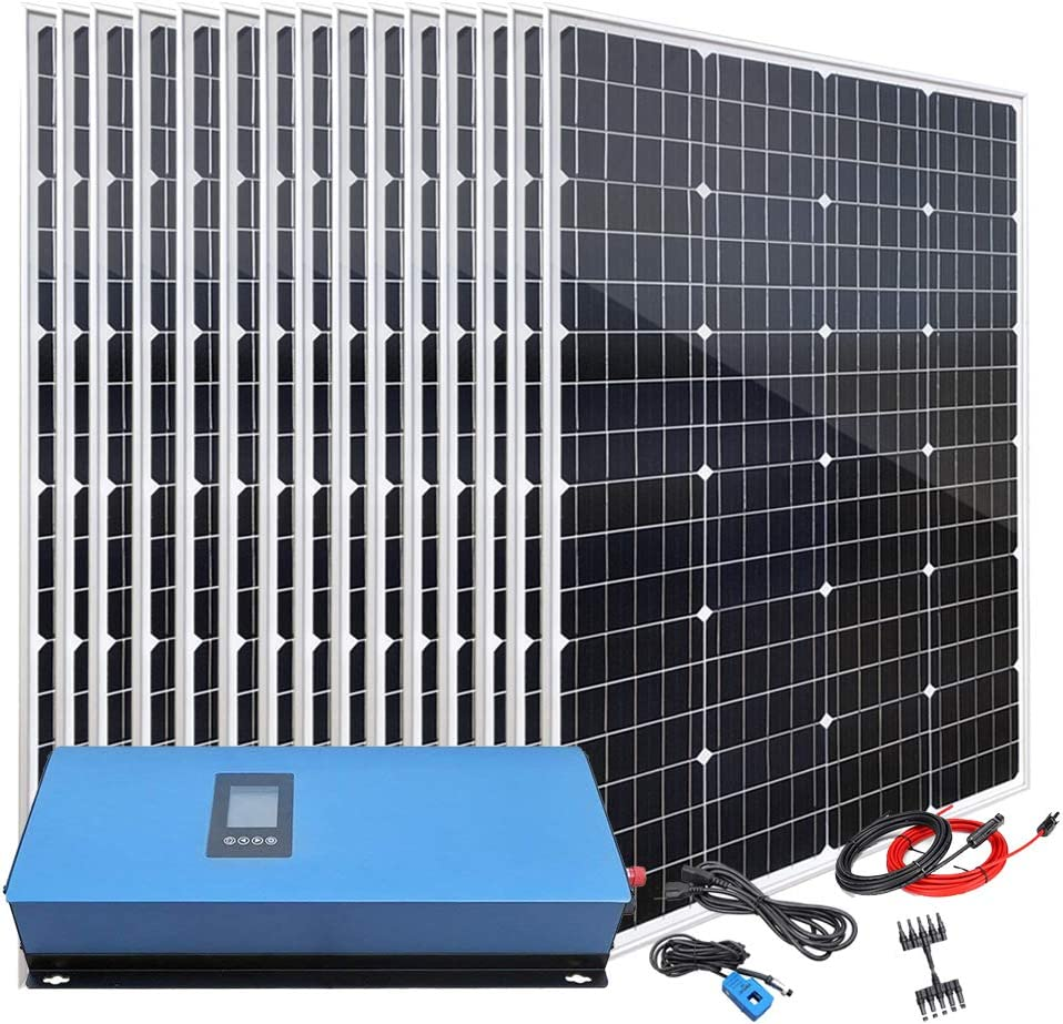 Giosolar 1800W Home Grid Tie Solar Kit on Grid System