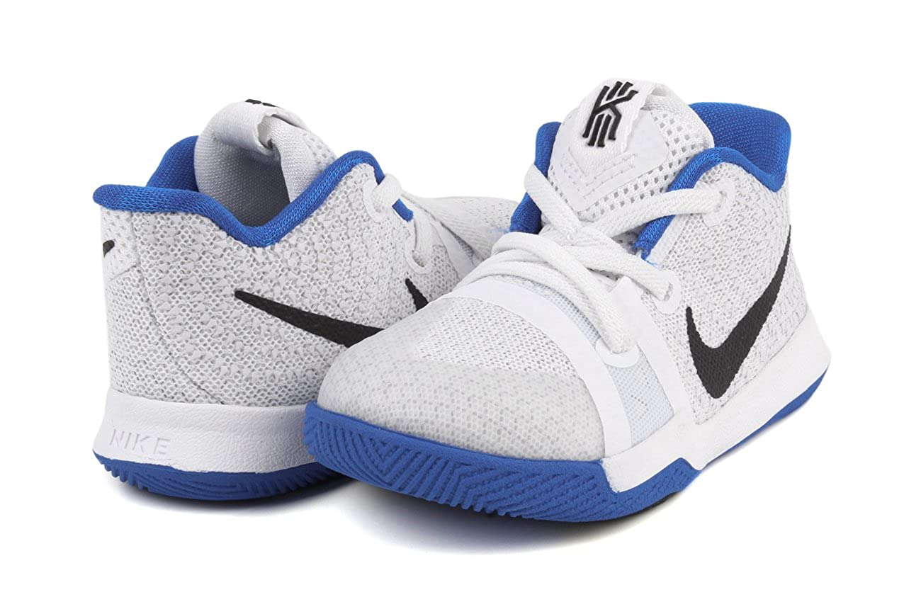 sale retailer d0782 b7e19 Amazon.com  Nike Kyrie3 Infants Toddlers Shoes White Hyper Cobalt Black  869984-102 (8 M US)  Shoes