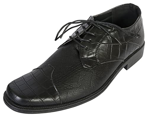 c6d89d8b7d27 Samuel Joseph Mens Python Croco Wingtip Dress Shoe