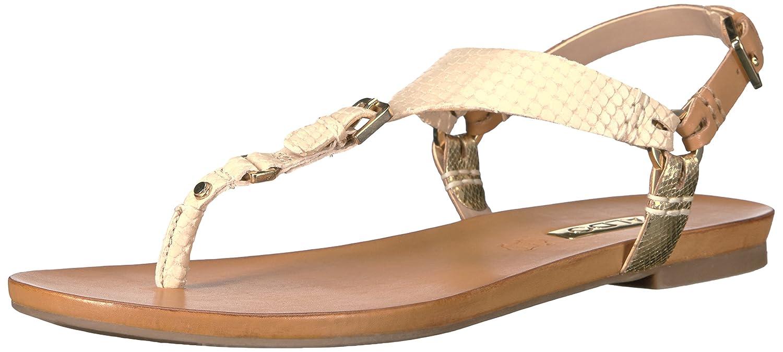 b3bb914c284 ALDO Rozie Gold Metallic Anke Strap Flat Sandals - Gold